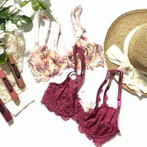 NWT Bundle of 2 Victoria's Secret lace bralettes
